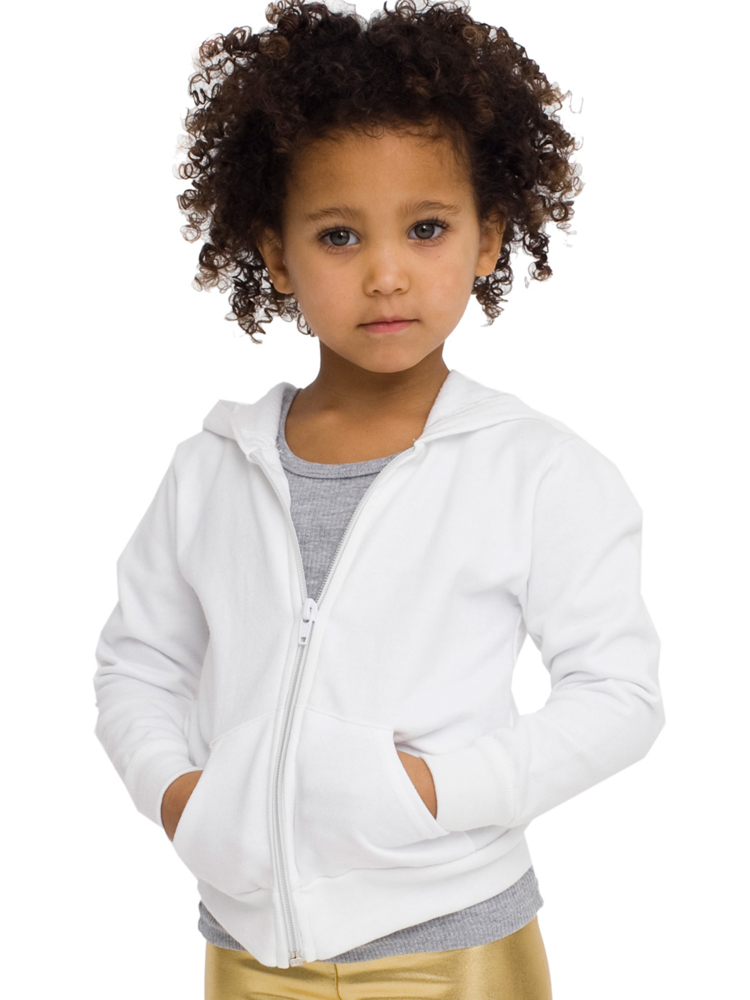 American Apparel 5197 - Kids Fleece Raglan Zip-Up Hoody