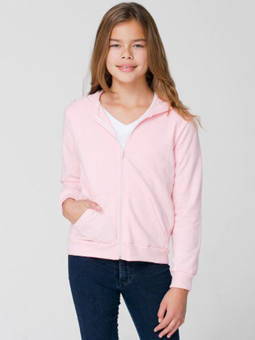 American Apparel 5297 - Youth Fleece Zip-Up Hoody