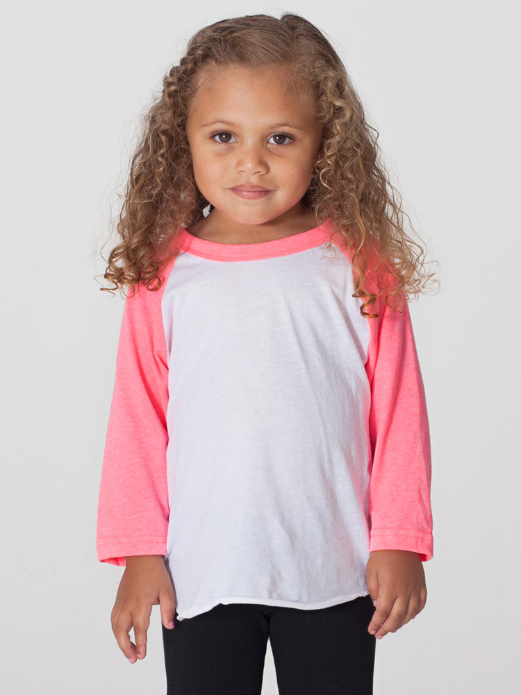 American Apparel BB153 - Kids Poly Cotton Raglan