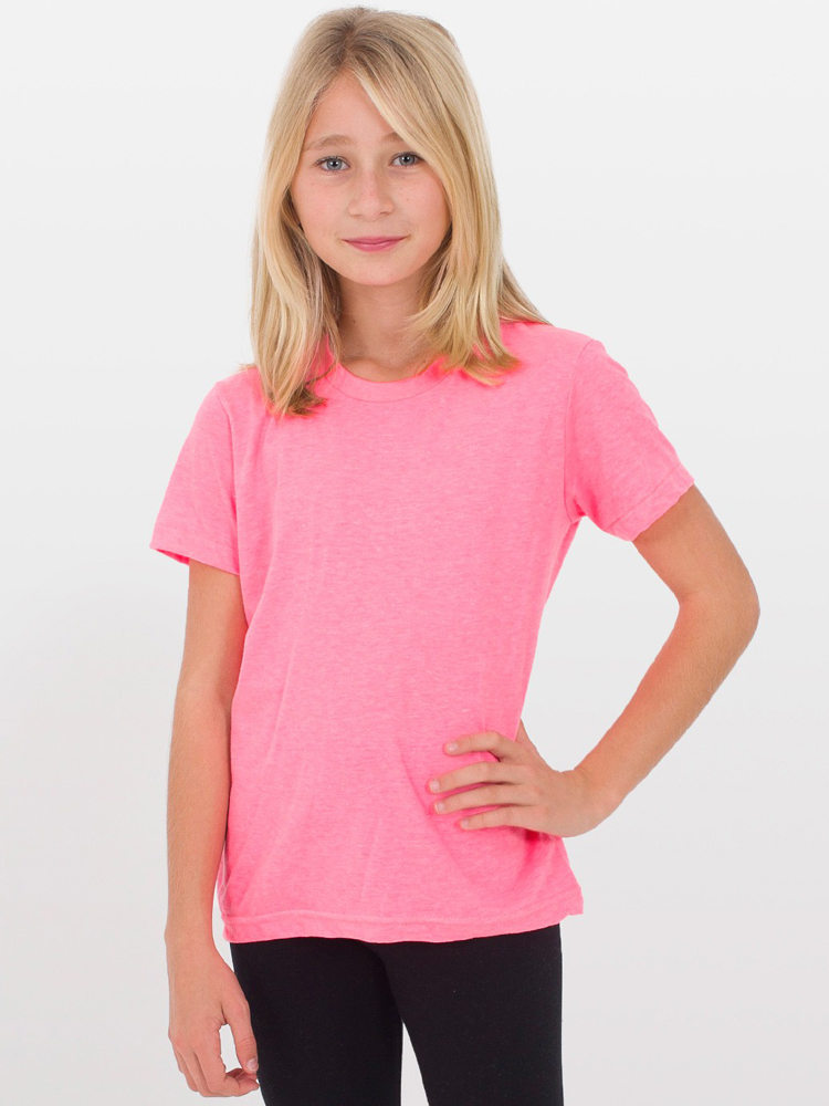 American Apparel BB201 - Youth Poly Cotton Short Sleeve ...
