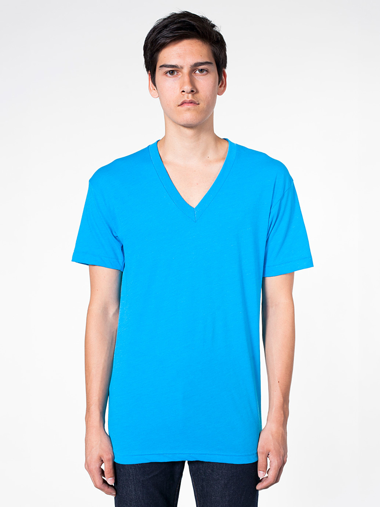 American Apparel BB456 - Poly Cotton Short Sleeve V-...