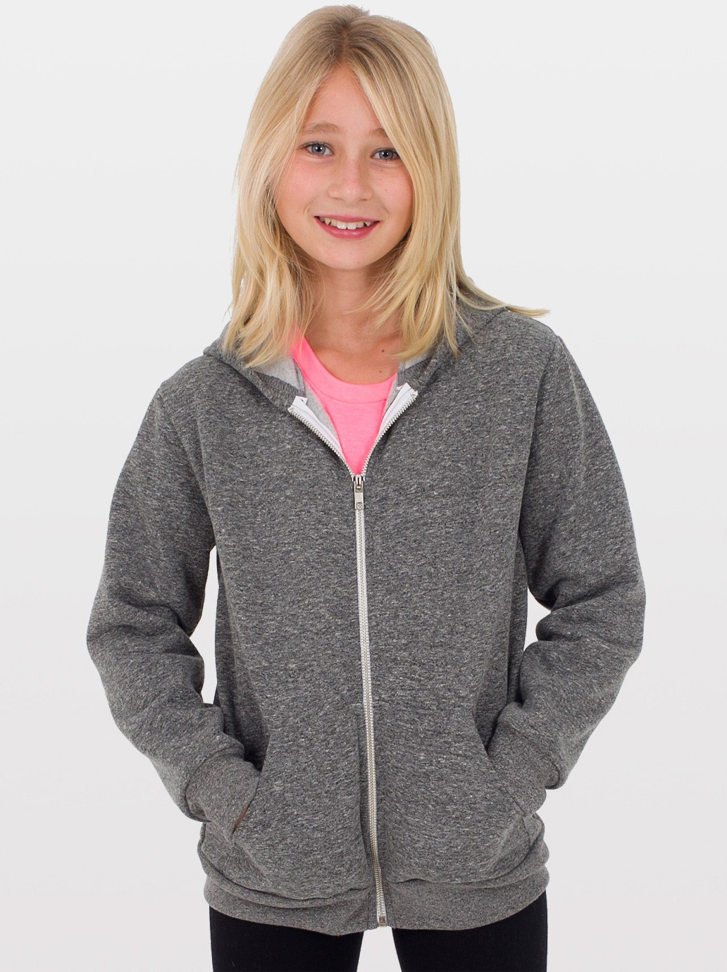 American Apparel MT297 - Youth Salt and Pepper Hoody