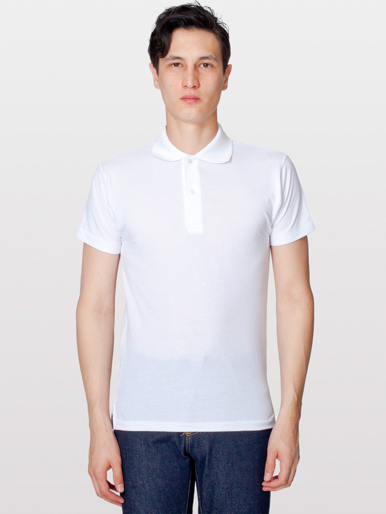 American Apparel PQ412 - Short Sleeve Pique Tennis Shirt