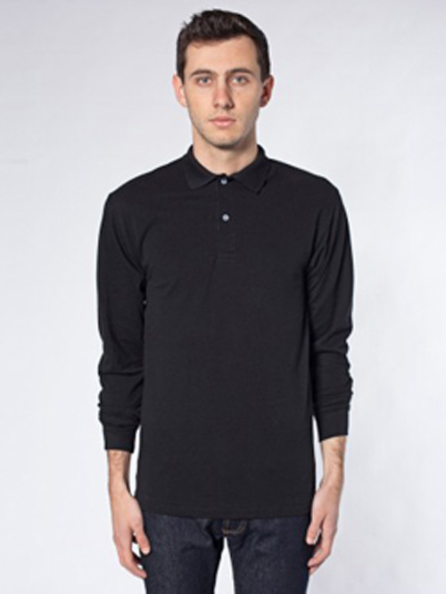 American Apparel PQ472 - Pique Long Sleeve Tennis Shirt