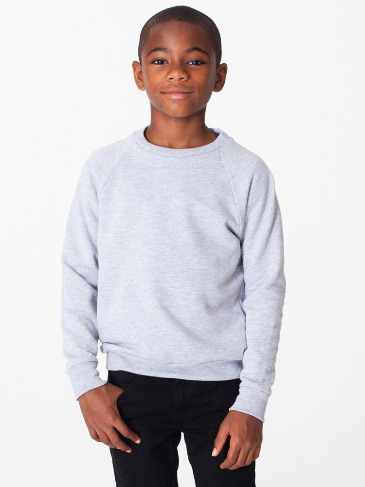 American Apparel RSA5254 - Youth California Fleece Longsleeve Raglan