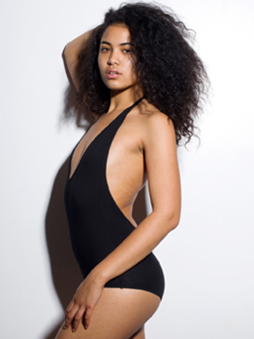 American Apparel RSA8312 - Cotton Spandex Jersey Halter Leotard