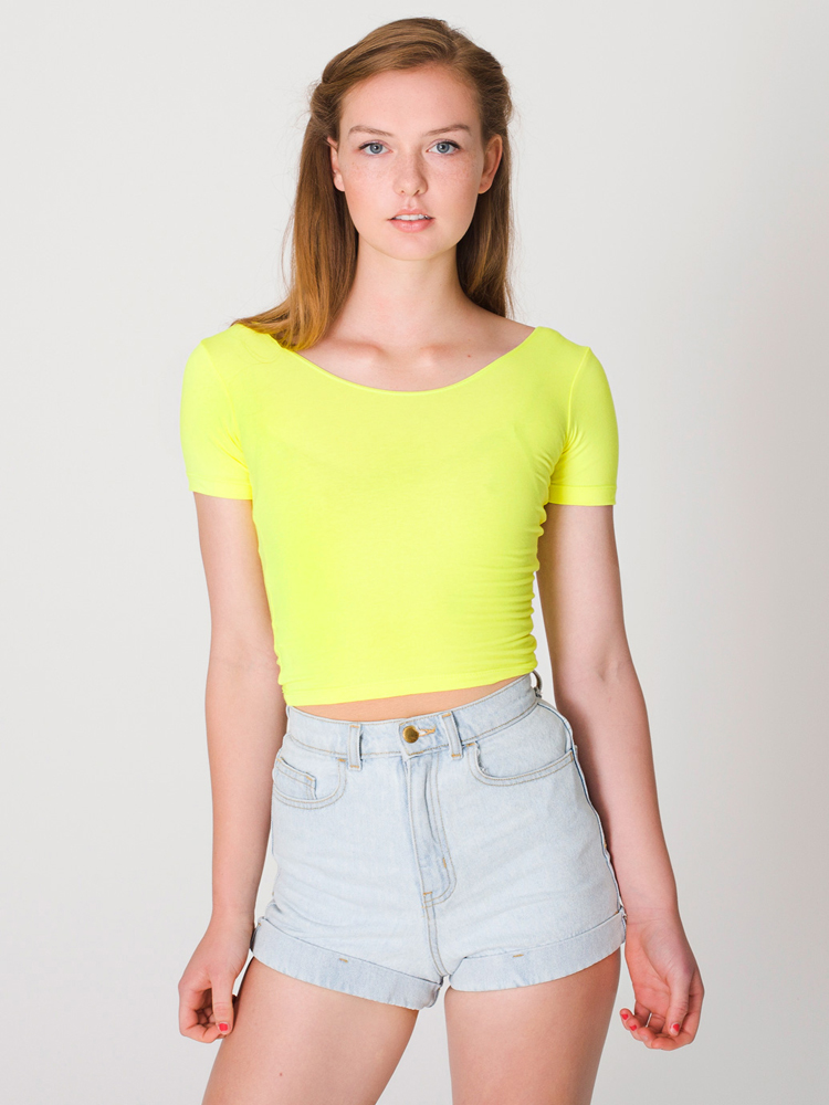 American Apparel RSA8380 - Cotton Spandex Jersey Crop ...