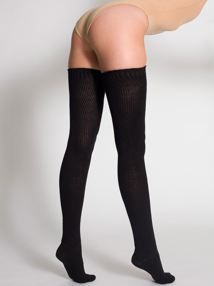 American Apparel RSASKTH-7 - Cotton Solid Thigh-High ...