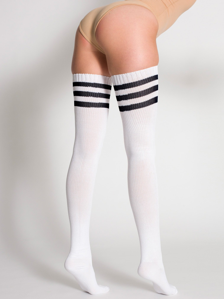 American Apparel RSASKTH - Stripe Thigh-High Sock