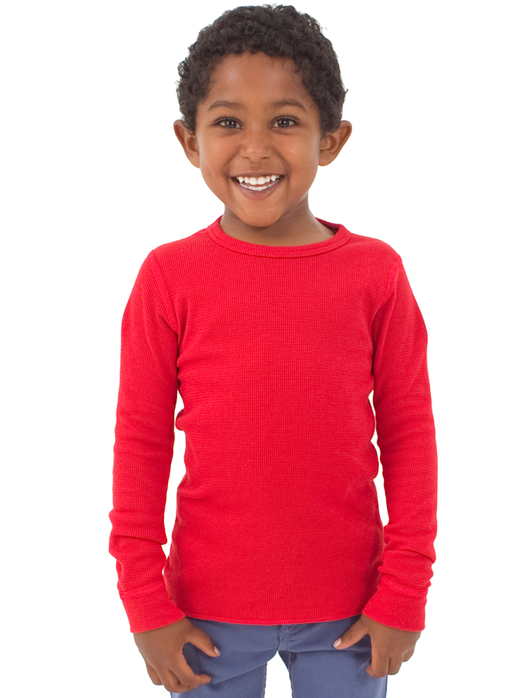 American Apparel T107 - Kids Thermal Long Sleeve Tee