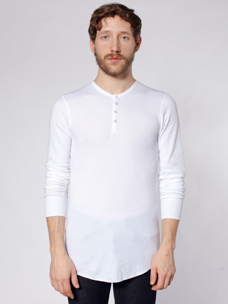 American Apparel T457 - Baby Thermal Henley