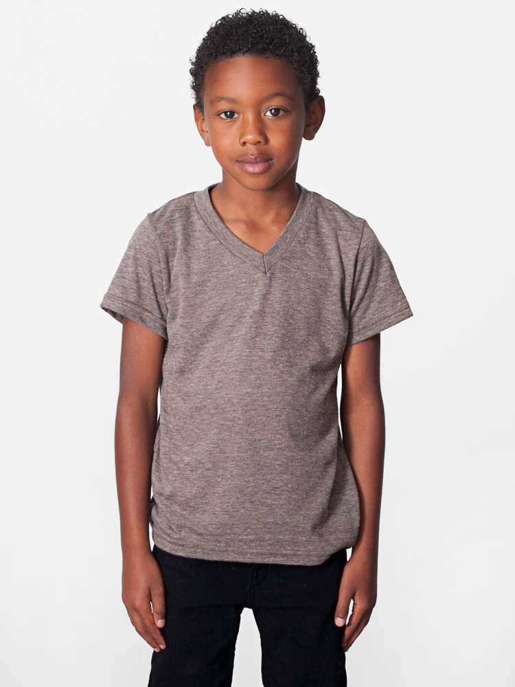American Apparel TR156 - Kids Tri-Blend V-neck