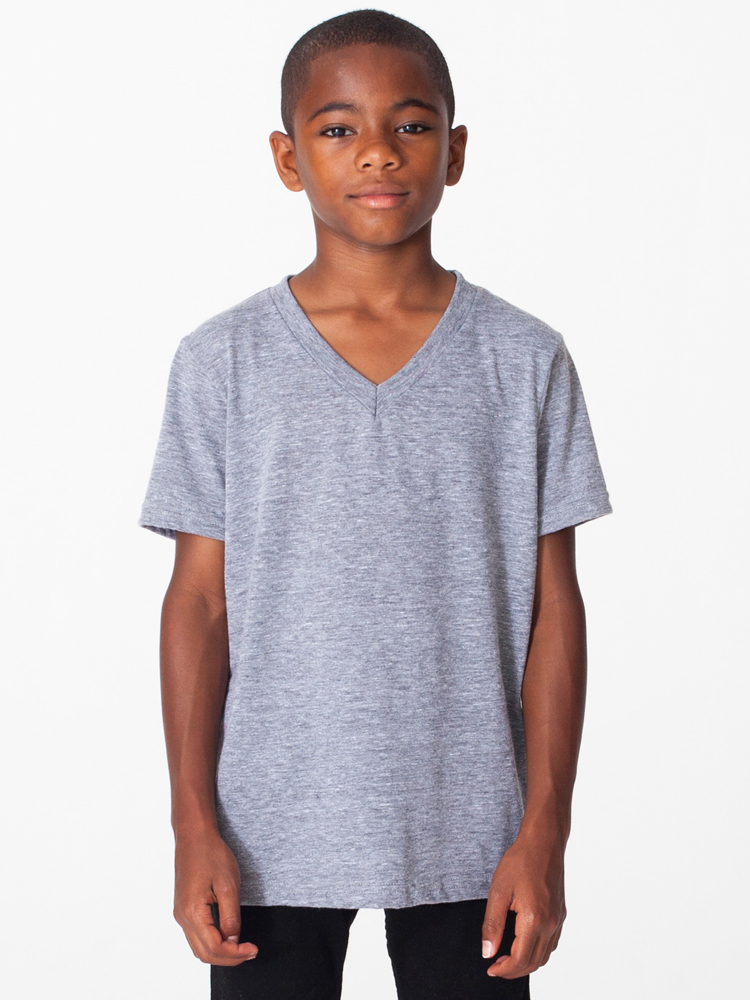 American Apparel TR256 - Youth Tri-Blend V-neck