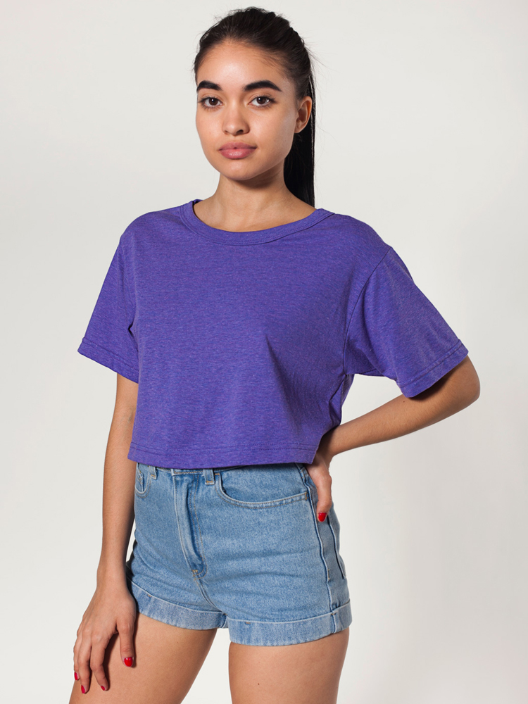 American Apparel TR480 - Tri-Blend Cropped Scrimmage ...