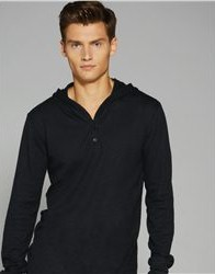 Canvas 3551 - Thermal Hooded Henley