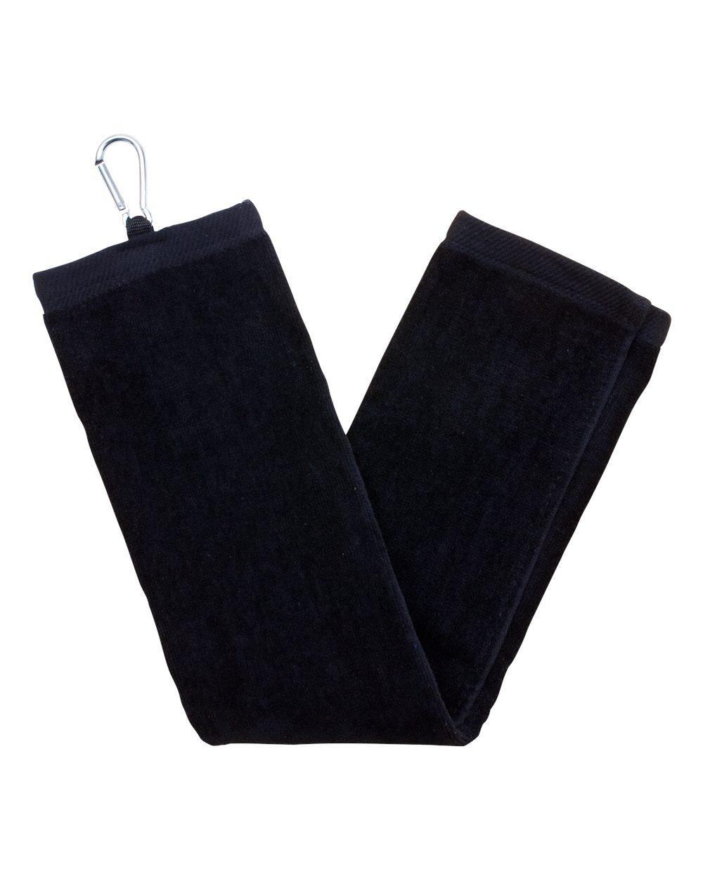 Carmel Towel Company C1624TC - Tri-Fold Velour Dobby Hemmed Hand Towel