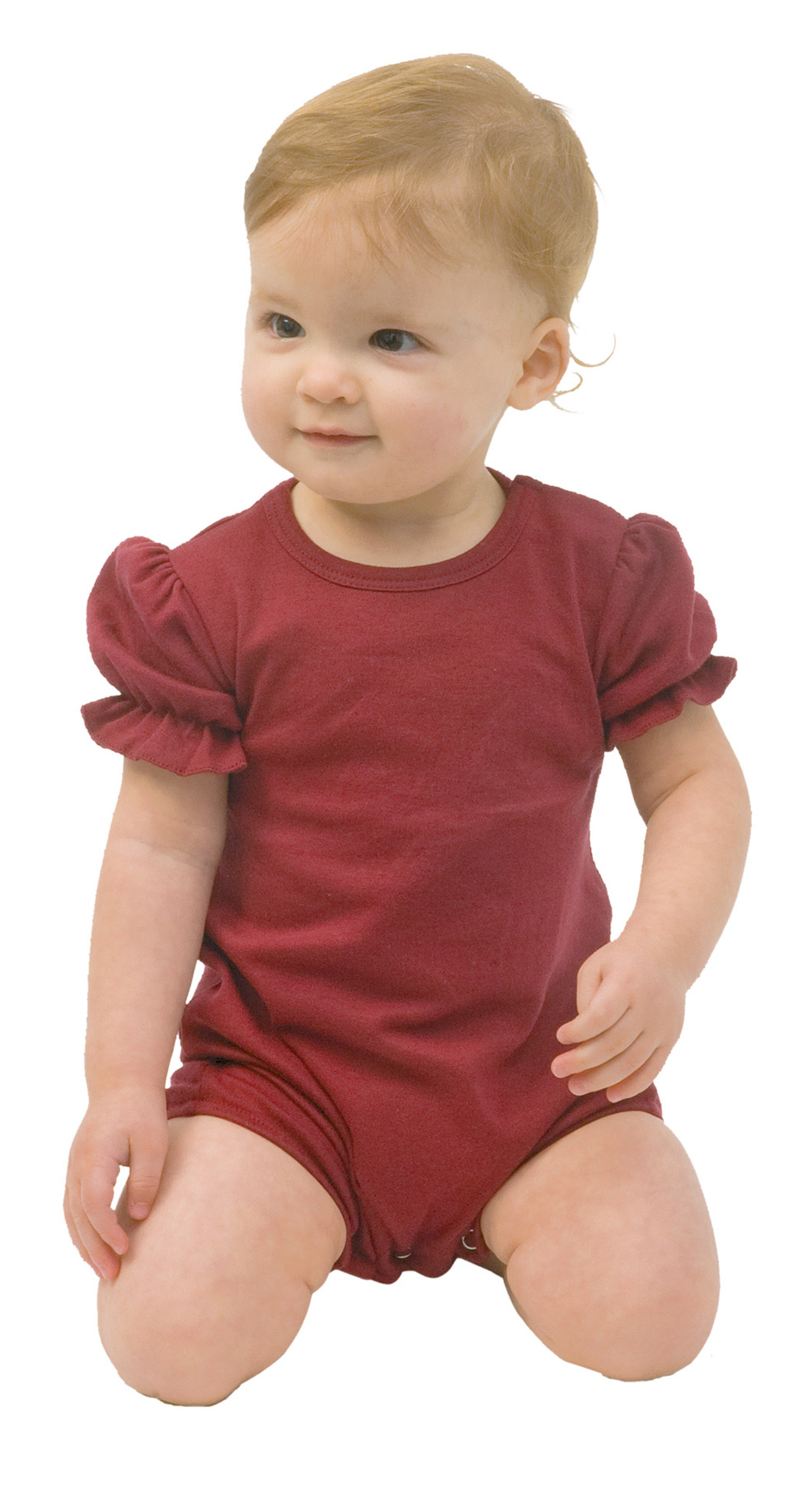 Monag 100011 - Interlock Short Sleeve Girls Romper