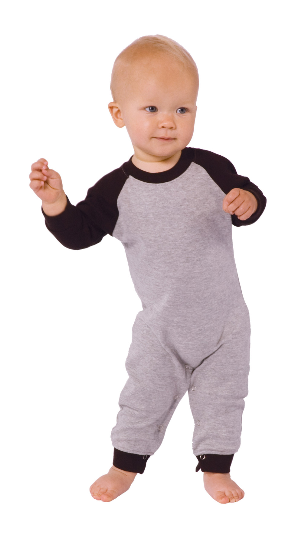 Monag 100016 - Interlock Long Sleeve Raglan Romper
