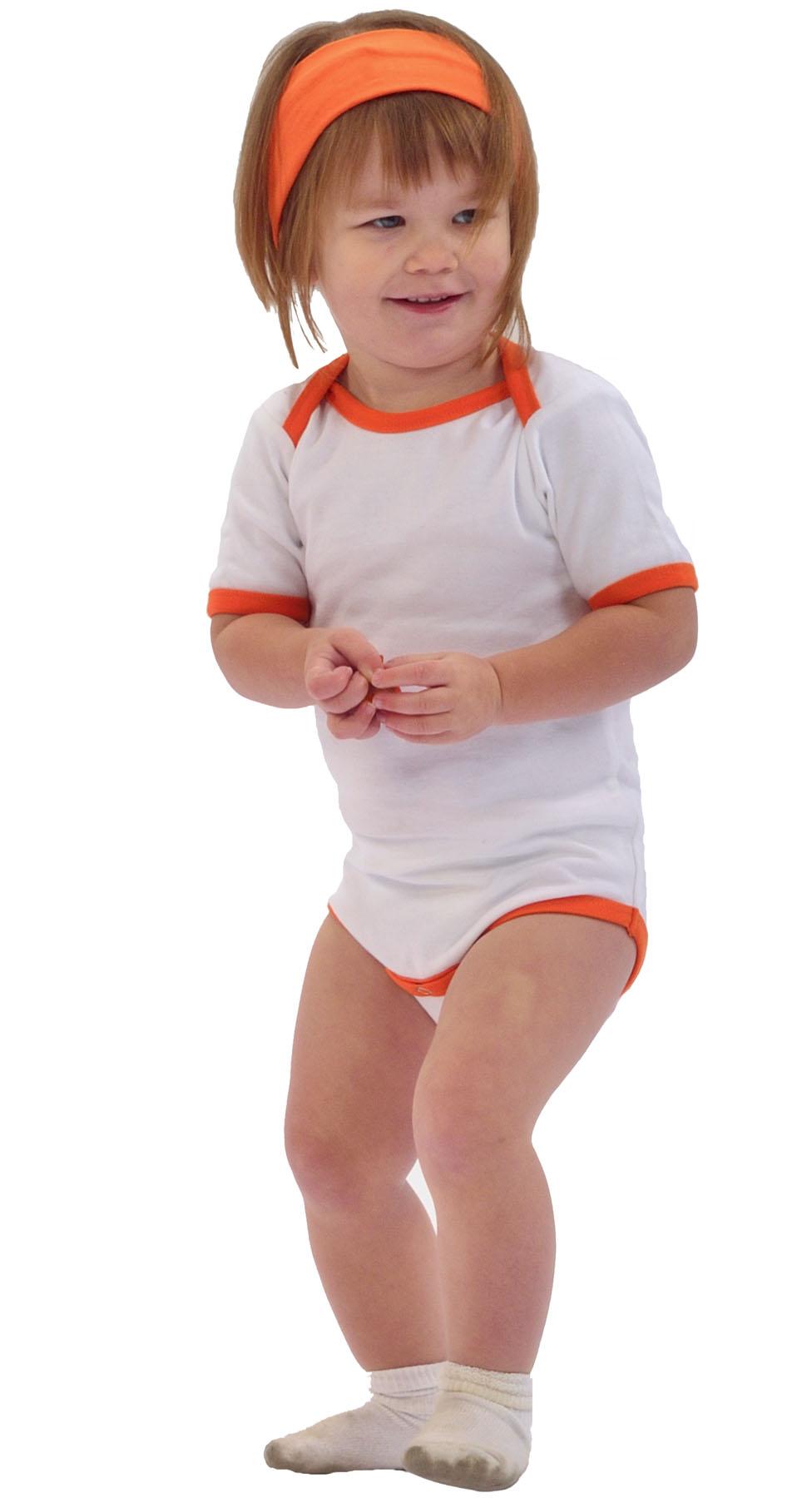 Monag 100070 连锁边短袖撞色滚边纯色T恤一片式连体T恤