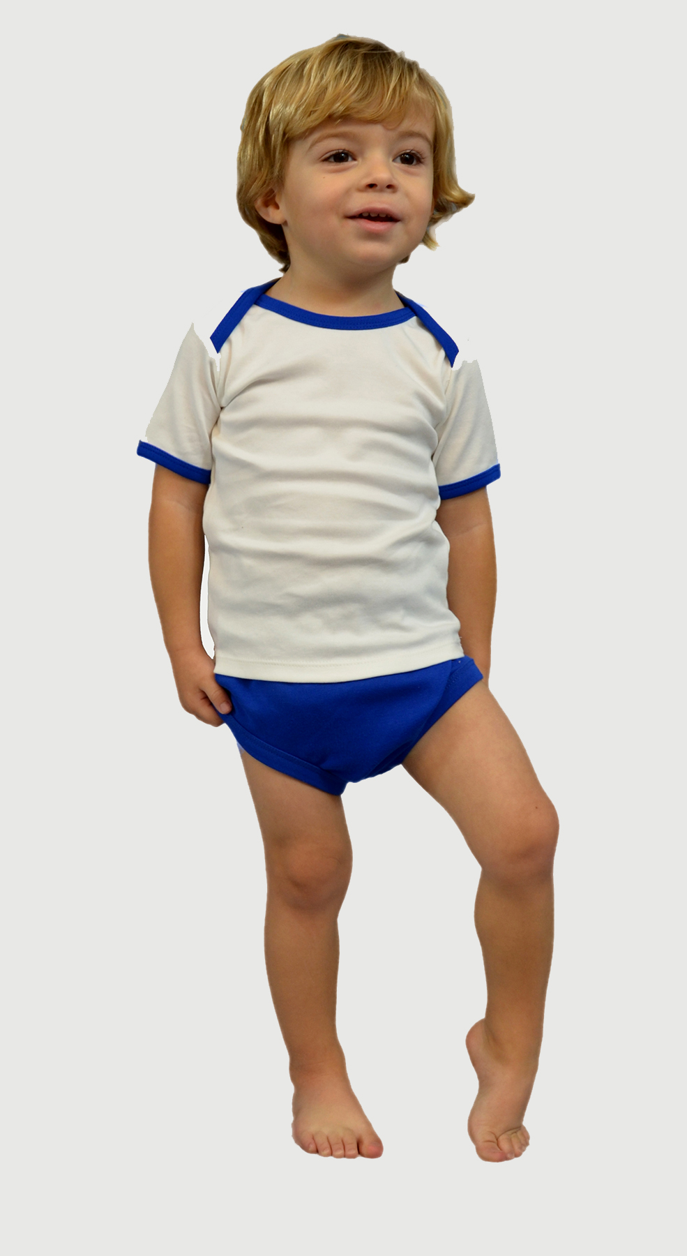 Monag 100090 - Interlock Short Sleeve Lap-T/ Diaper ...