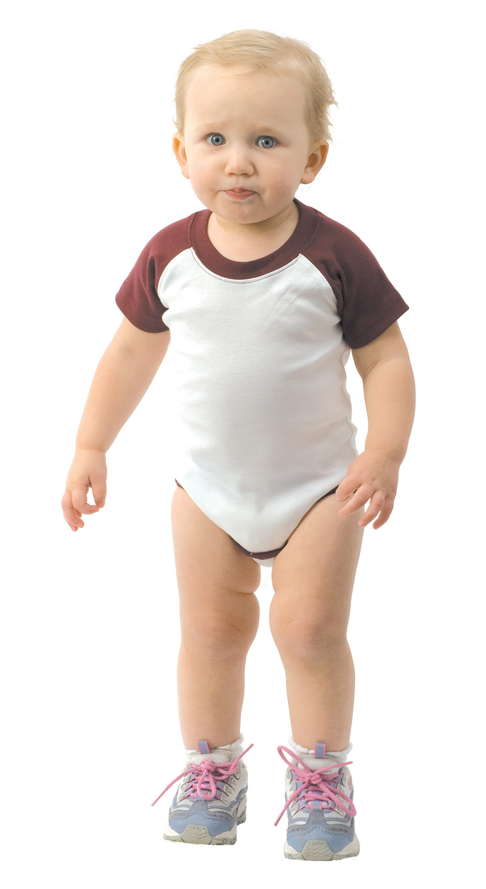 Monag 100240 - Interlock Short Sleeve Raglan One-Piece