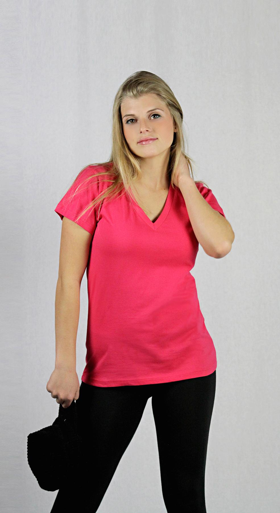 Monag 303016 - Short Sleeve V-Neck Tee