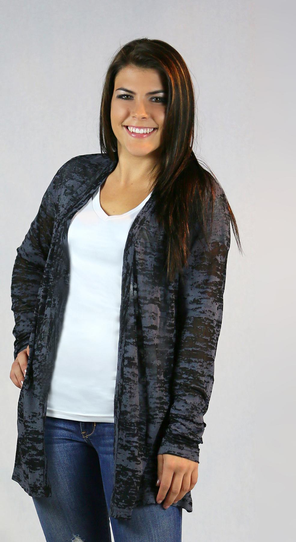 Monag 373100 - L/S Open Burnout Jacket