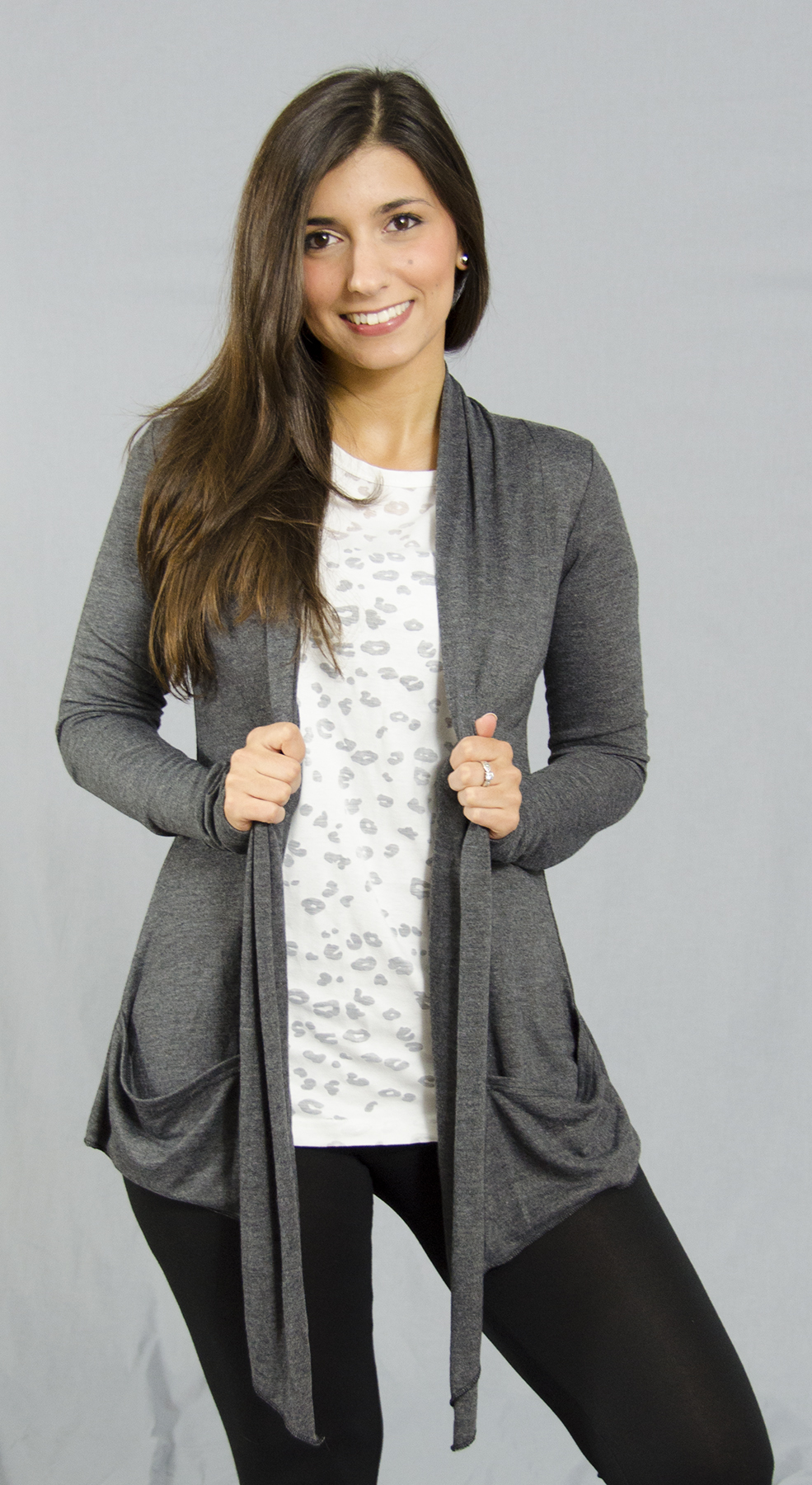 Monag 383102 - L/S Open Jacket with Pockets