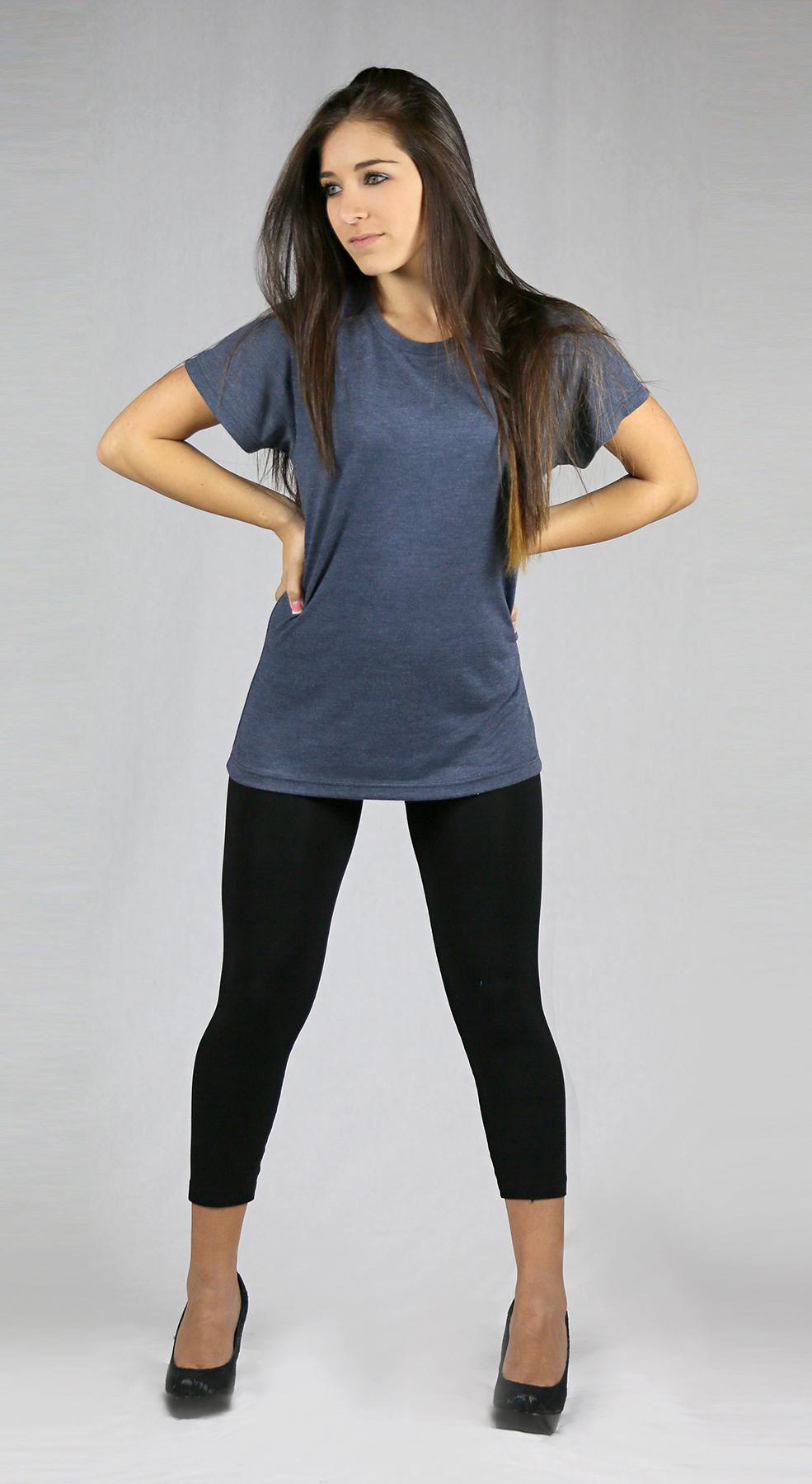 Monag 393010 - Short Sleeve Heather Crew Neck Tee