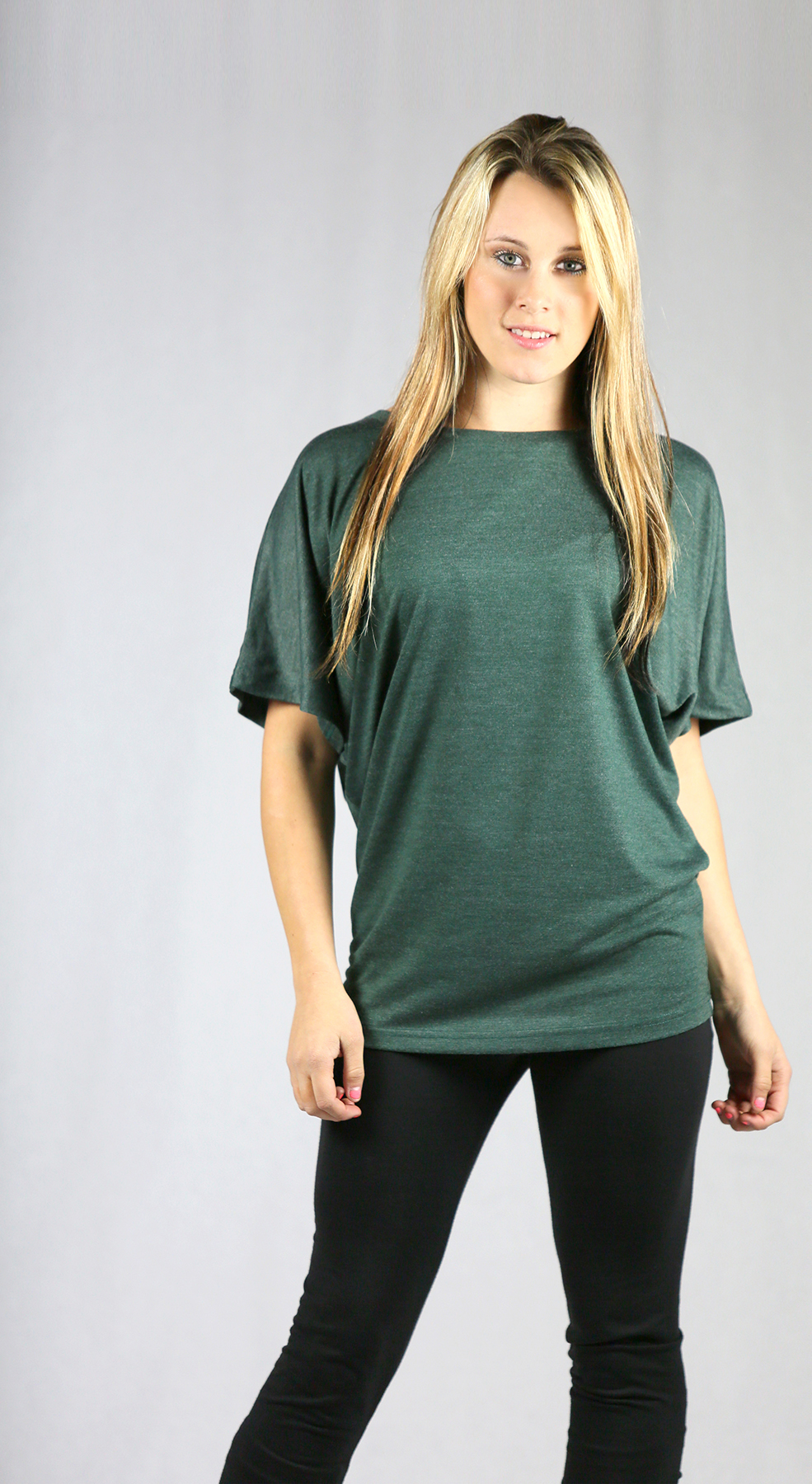 Monag 393015 - Short Sleeve Heather Dolman Tee