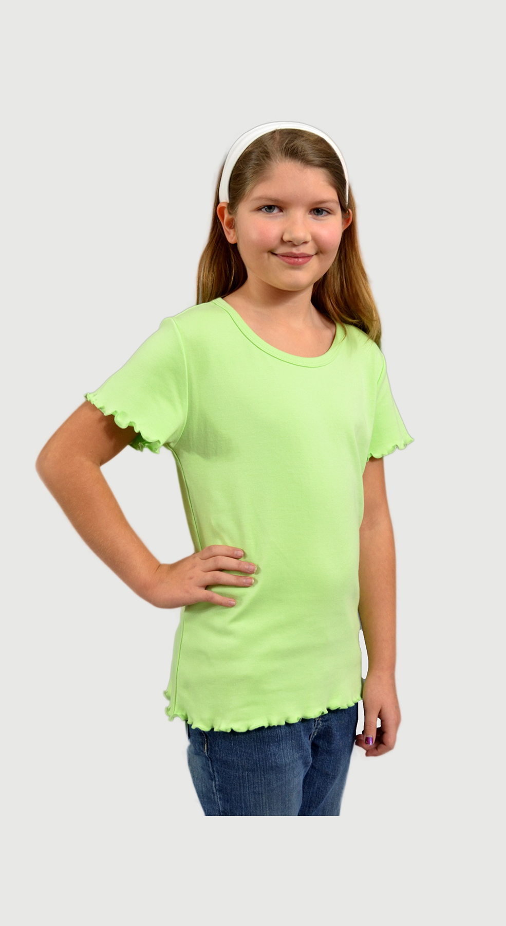 Monag 400012 - Interlock Lettuce Short Sleeve Girly ...