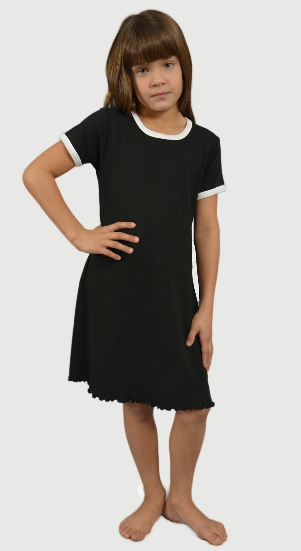 Monag 400120 - Interlock Short Sleeve Ringer Dress