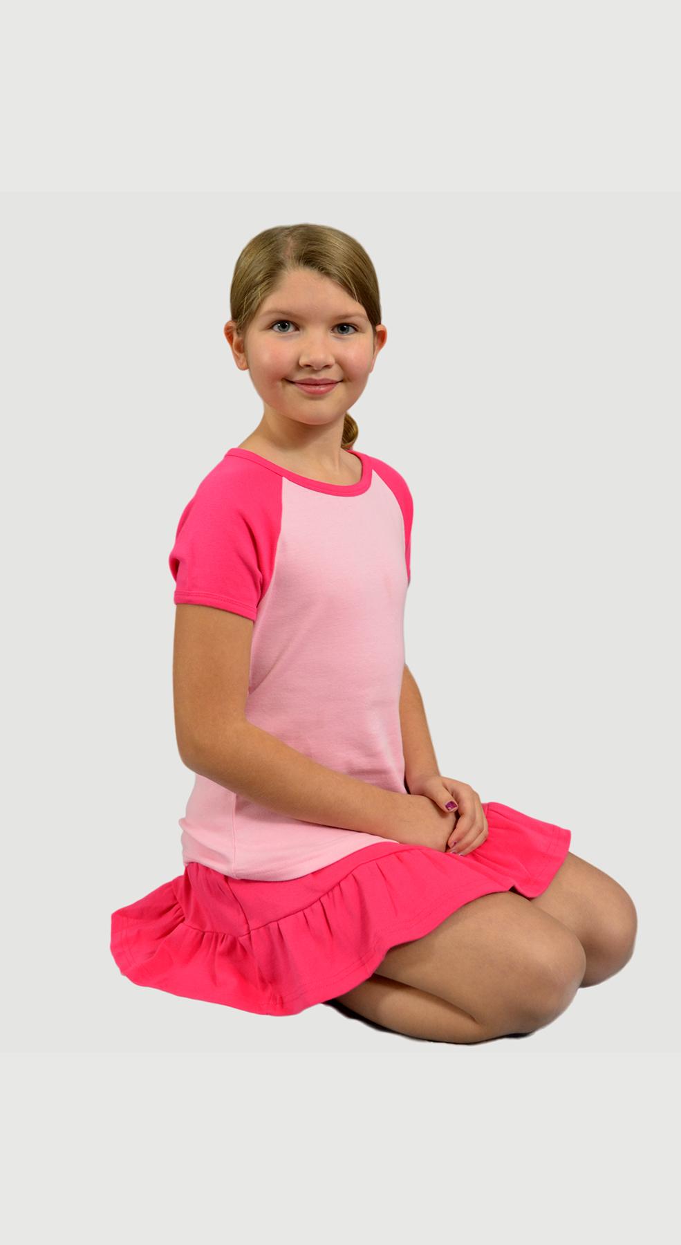 Monag 402040 - Baby Rib Short Sleeve Raglan Tee
