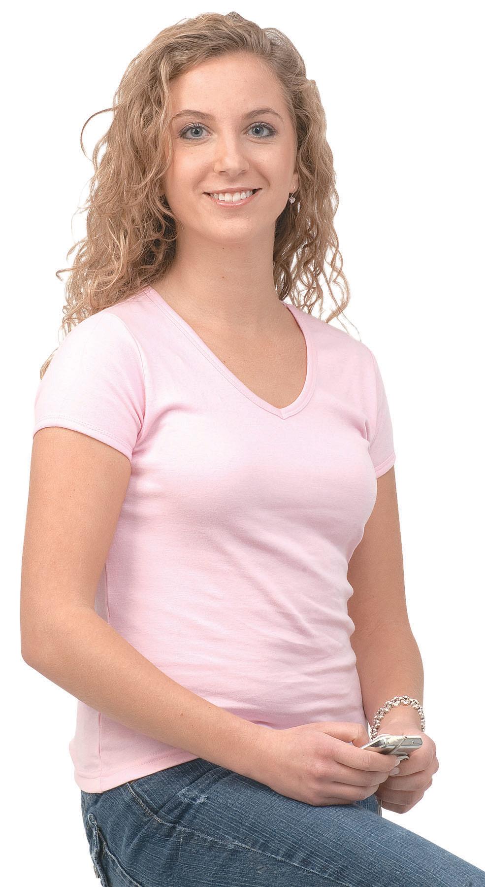 Monag 561016 - Interlock Short Sleeve V-Neck Tee