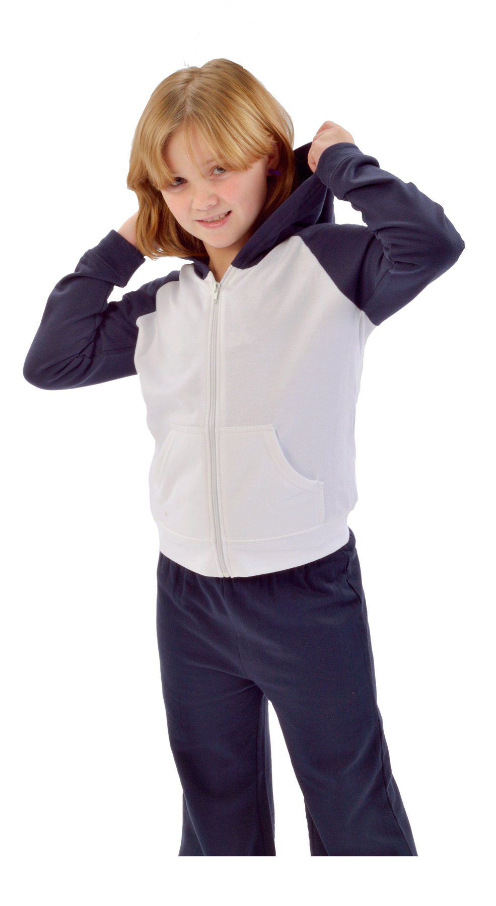 Monag 600004 - Fleece Hooded Raglan Jacket