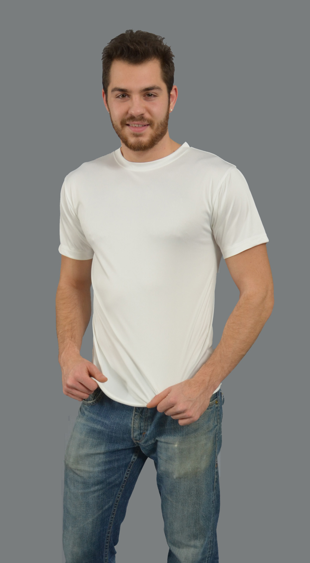 Monag 971001 - S/S Men's Crew Neck Tee 100% MicroPoly ...