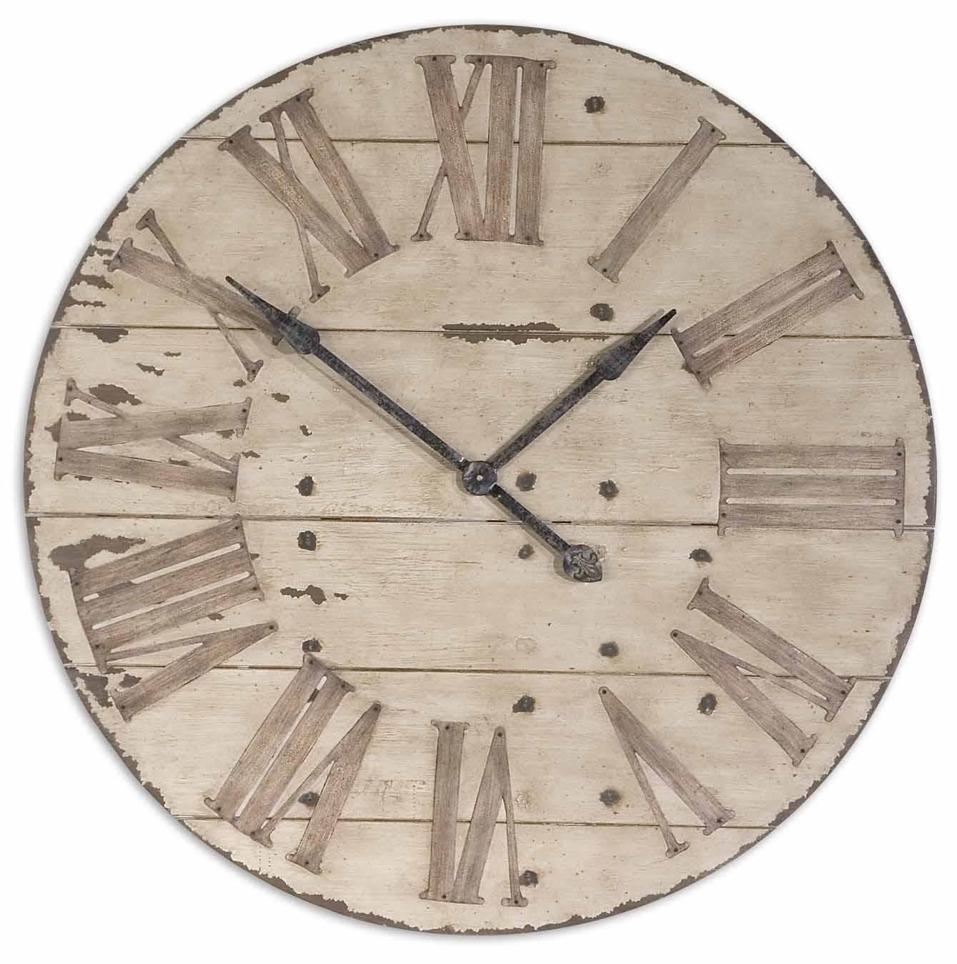 uttermost 06671 harrington 36 quot wooden wall clock 301 40