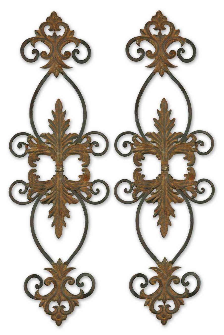 uttermost 13387 lacole rustic metal wall art set 2. Black Bedroom Furniture Sets. Home Design Ideas