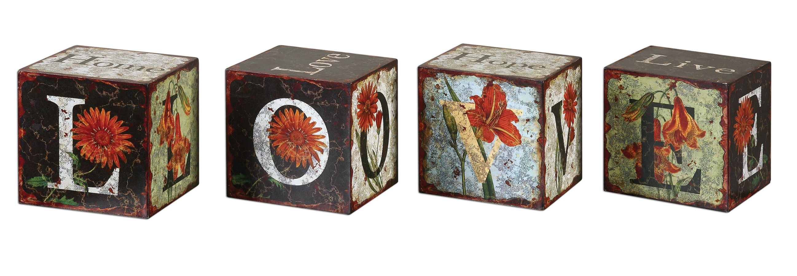 Uttermost 19540 Love Letters Decorative Boxes Set/4