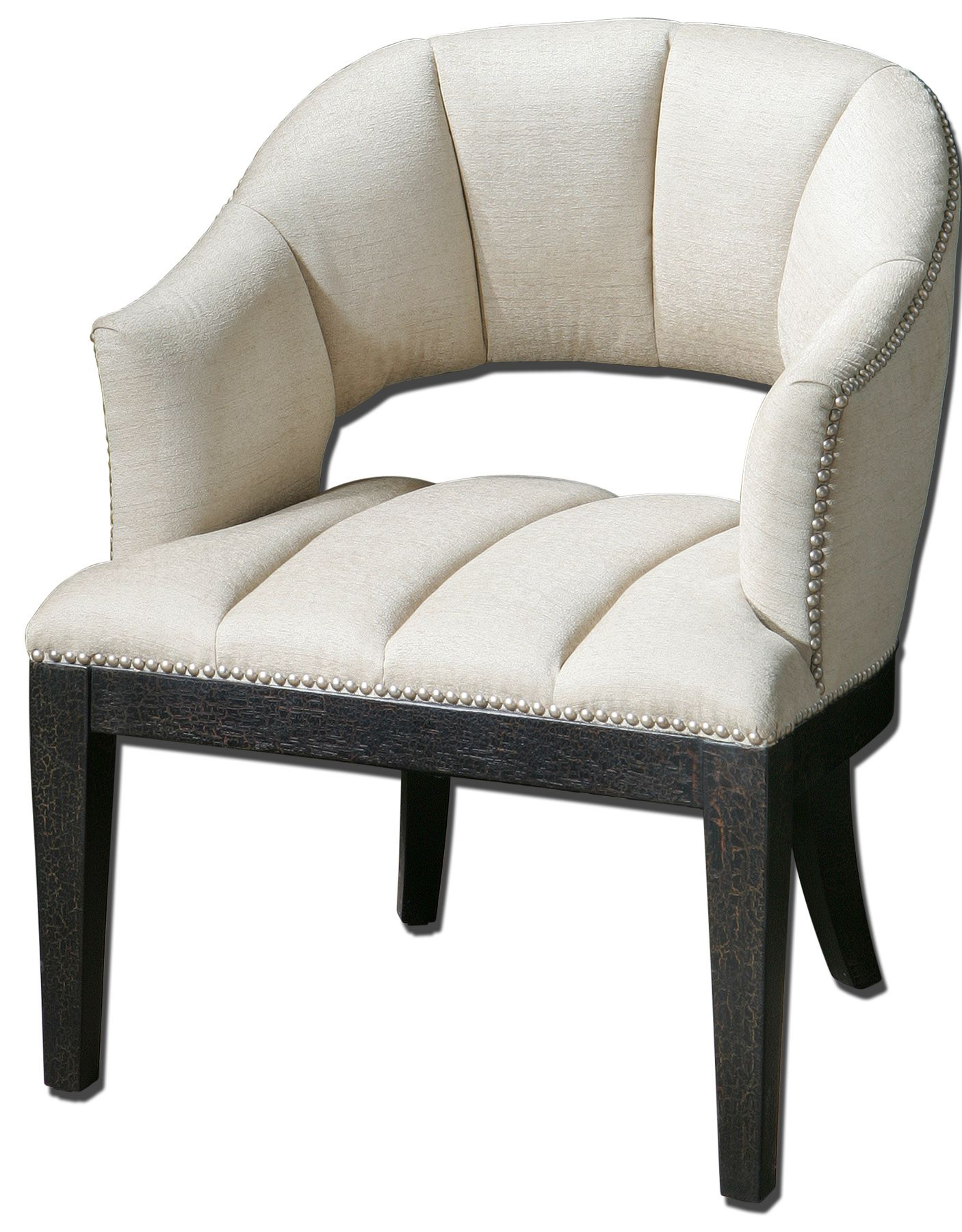 Uttermost 23084 Bovary White Tufted Armchair