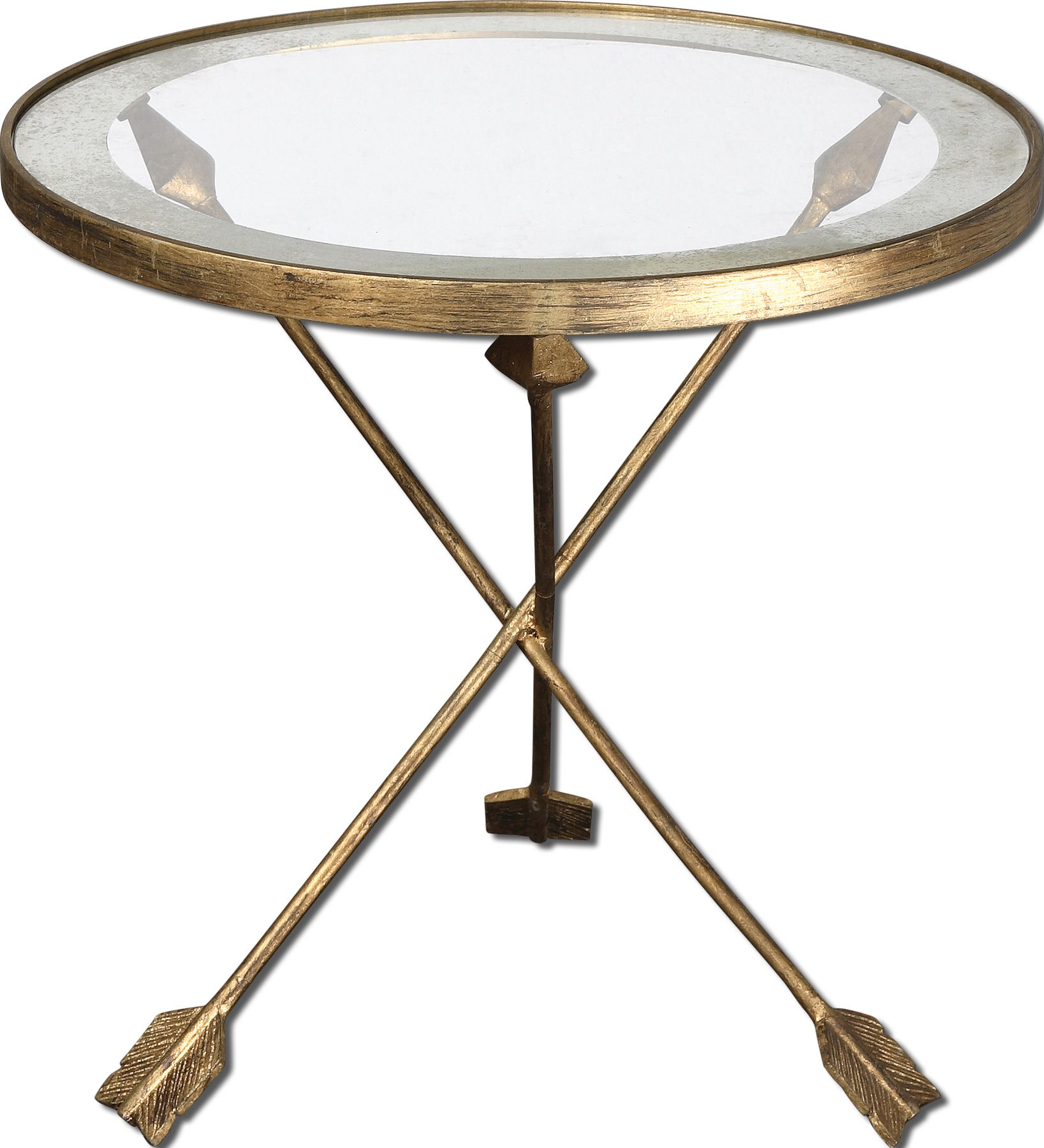 Uttermost 24275 Aero Glass Top Accent Table