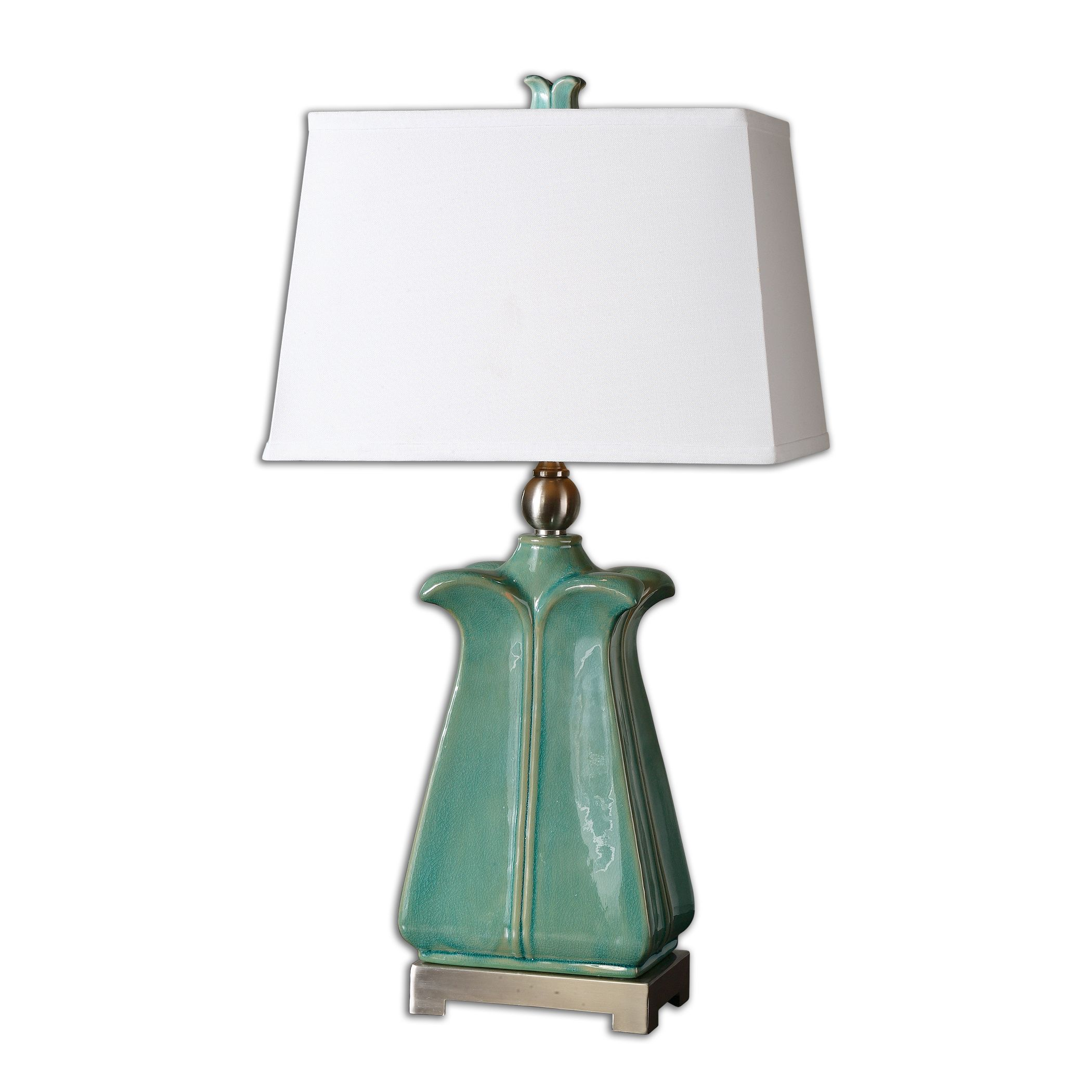 uttermost 26487 calciano teal table lamp. Black Bedroom Furniture Sets. Home Design Ideas