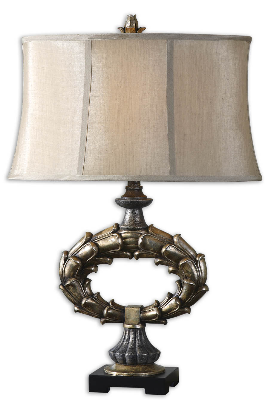 Silver Table Lamps : Uttermost 26849 Genesee Silver Table Lamp $184.80 -