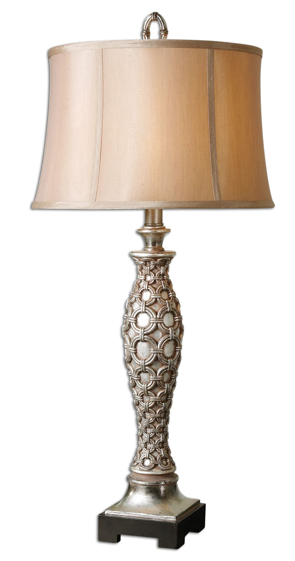 Silver Table Lamps : Uttermost 27372 Cunico Silver Table Lamp $248.60 -