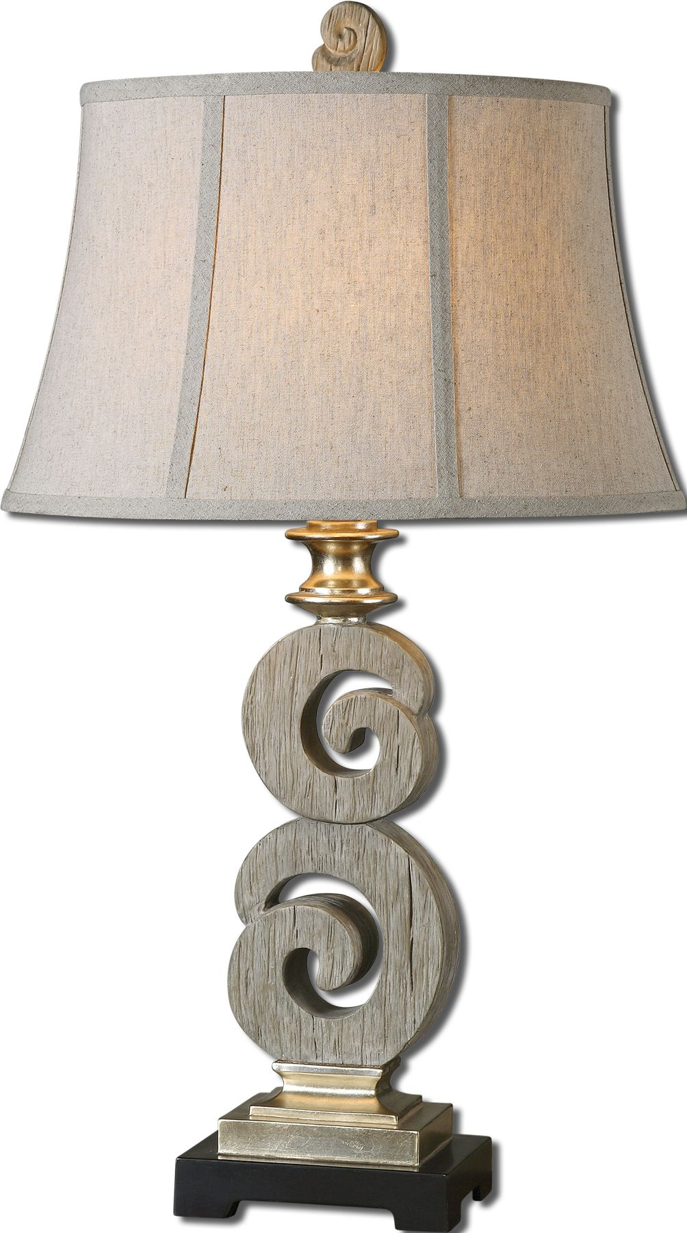Uttermost 27439 Delshire Wood Table Lamp