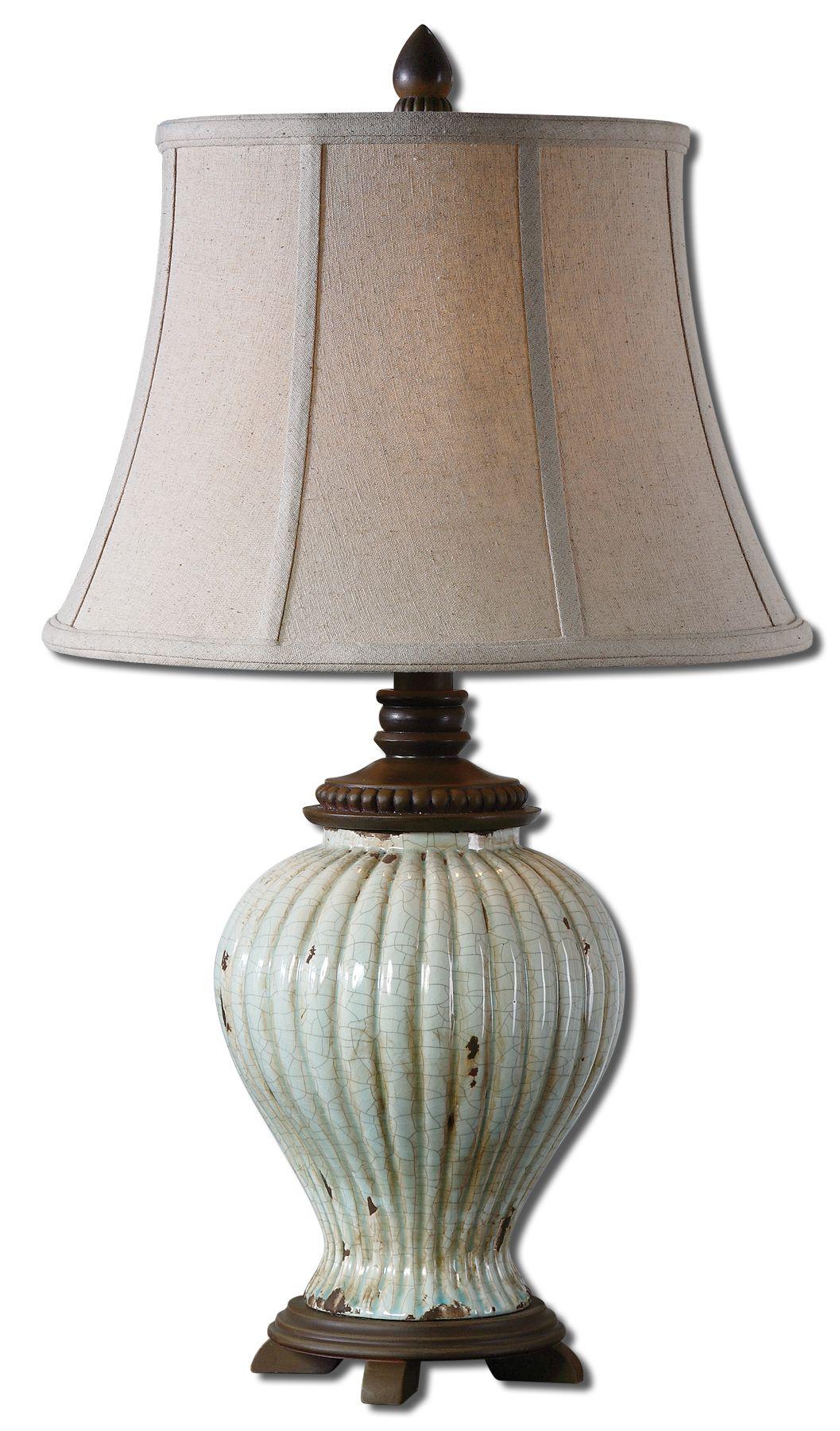 uttermost 27477 dernice aged ceramic table lamp. Black Bedroom Furniture Sets. Home Design Ideas