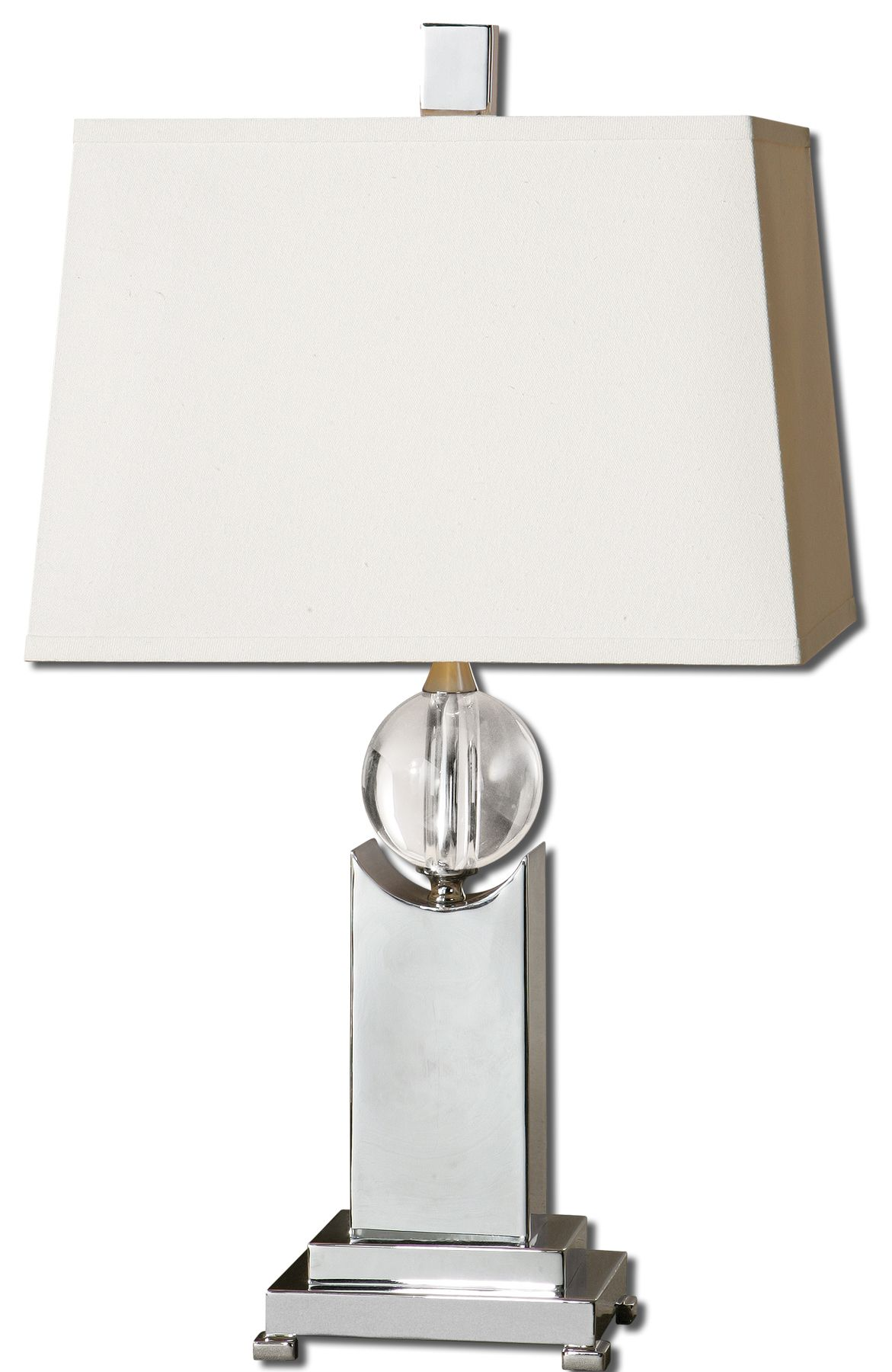 Uttermost 27479 Morano Nickel Table Lamp
