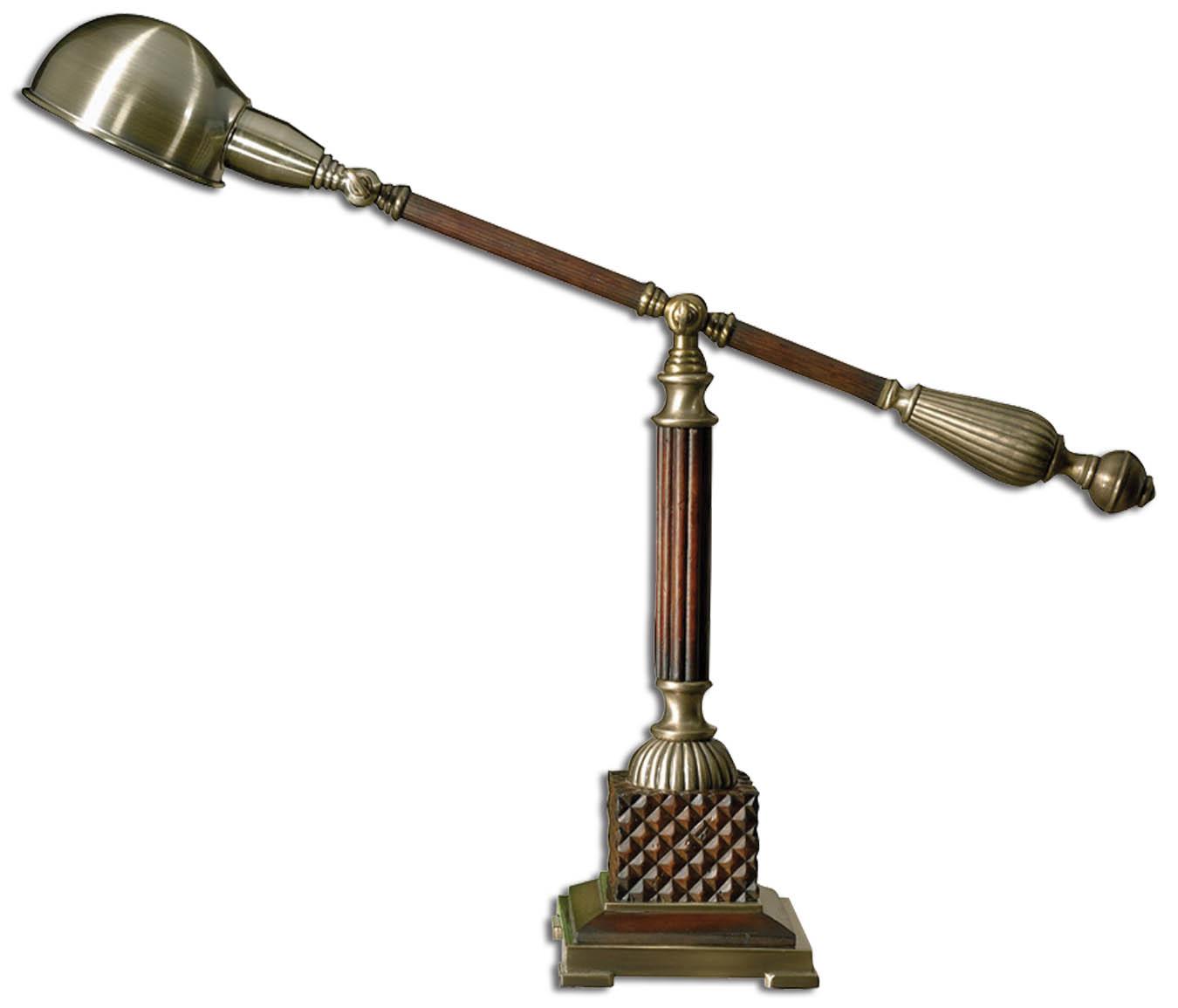 Uttermost 29425-1 Dalton Wood Desk Lamp