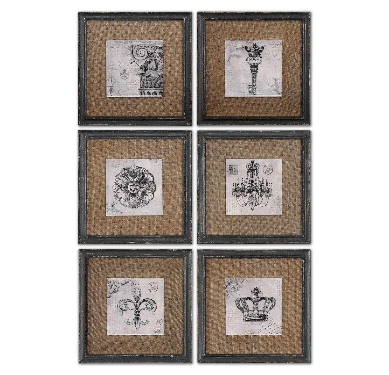 Uttermost 55000 Symbols Wall Art Set/6
