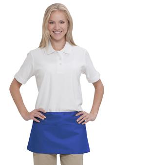 7.5 oz. cotton twill solid color three pocket waist aprons